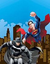 Batman vs Superman party supplies and decorations.