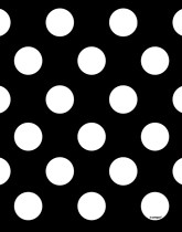 Party supplies and tableware with a black Decorative Dots theme