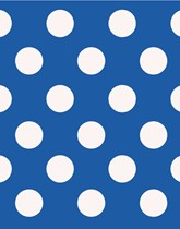 Party Supplies and tableware with a blue Decorative Dots theme