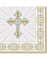 Gold and Silver Christening Decorations and Partyware