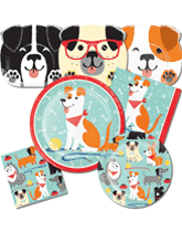 Dog themed tableware and decorations