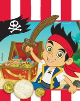 Party supplies and tableware themed with Disney's Jake & The Neverland Pirates