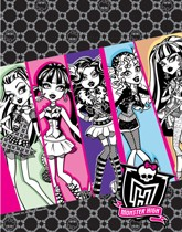 Monster High themed party supplies and decorations.