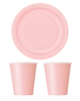 Party Tableware themed in Pastel Pink