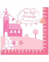 Pink Church Christening Decorations and Partyware