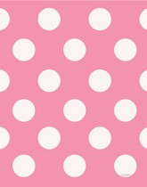 Party supplies and tableware with a pink Decorative Dots theme