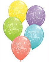 Qualatex latex balloons printed with a message.