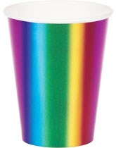 Plates, cups, napkins, tablecovers Rainbow Foil