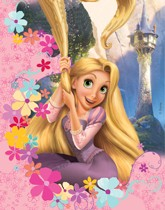 Party supplies and tableware with a Disney's Rapunzel theme