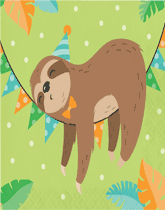 Sloth Party animal tableware and decorations