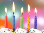 Party Candles, confetti, tissue paper