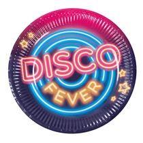 Disco Fever 23cm Paper Plates 6pk