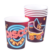 Disco Fever Party Paper Cups 6pk