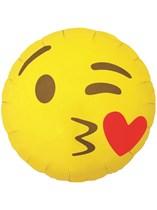 "Kissing Heart Emoji 18"" Foil Balloon"