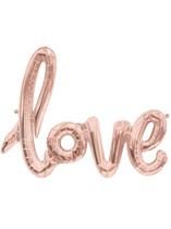 "Love Script 40"" Foil Balloon - Rose Gold"