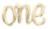 "One Script 30"" Foil Balloon - White Gold"