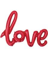 "Love Script 40"" Foil Balloon - Red"
