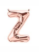 """16"""" Letter Z Rose Gold Foil Balloon"""