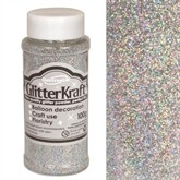Glitter Kraft Holographic Silver Powder 100g