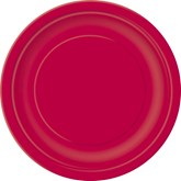 """Ruby Red 7"""" Round Paper Plates 8pk"""