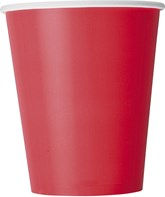 Ruby Red 9oz Paper Cups 8pk