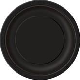 "Midnight Black 7"" Round Paper Plates 8pk"