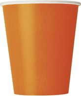 Pumpkin Orange 9oz Paper Cups 8pk