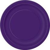 "Deep Purple 7"" Round Paper Plates 8pk"