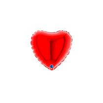 """Grabo 4"""" Red Heart Foil Balloon"""