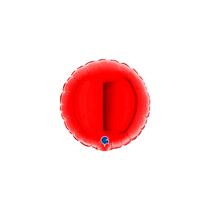 "Grabo 4"" Red Round Foil Balloon"