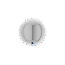 "Grabo 4"" Silver Round Foil Balloon"