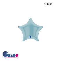 "Grabo Pastel Blue 4"" Star Foil Balloon"
