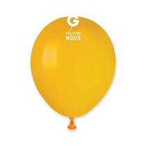 "Gemar Standard Yellow 5"" Latex Balloons 100pk"