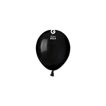"Gemar Standard Black 5"" Latex Balloons 100pk"
