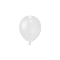 "Gemar Metallic White 5"" Latex Balloons 100pk"