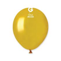 "Gemar Metallic Gold 5"" Latex Balloons 100pk"