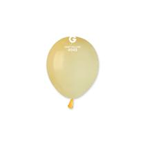 "Gemar Macaron Mustard 5"" Latex Balloons 100pk"