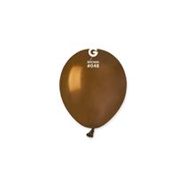 "Gemar Standard Brown 5"" Latex Balloons 100pk"