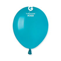 "Gemar Standard Turquoise 5"" Latex Balloons 100pk"