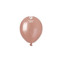 "Gemar Metallic Rose Gold 5"" Latex Balloons 100pk"
