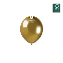 "Gemar Shiny Gold 5"" Latex Balloons 50pk"