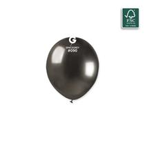 "Gemar Shiny Space Grey 5"" Latex Balloons 50pk"