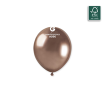 "Gemar Shiny Rose Gold 5"" Latex Balloons 50pk"