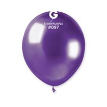 "Gemar Shiny Purple 5"" Latex Balloons 50pk"