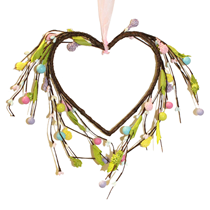 """Spring 9"""" Berry Heart Shaped Wreath"""