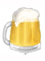 "Beer Mug See-Thru 23"" Supershape Foil Balloon"