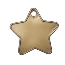 Gold Plastic Star Balloon Weights 100pk