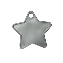 Silver Plastic Star Balloon Weights 100pk