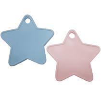 Baby Pink & Blue Plastic Star Balloon Weights 100pk