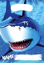 Shark Splash Plastic Party Bag 8pk